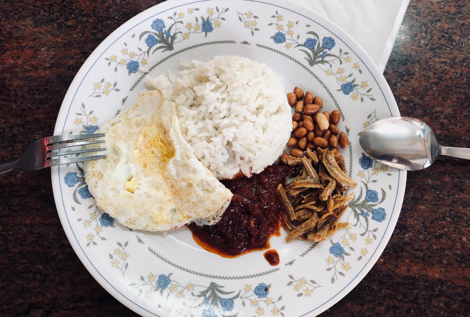 Nasi Lemak, een bekend ontbijt in Maleisië